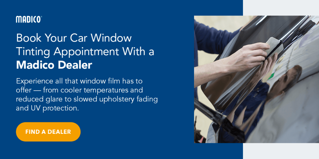 Book Your Car Window Tinting Appointment With a Madico Dealer