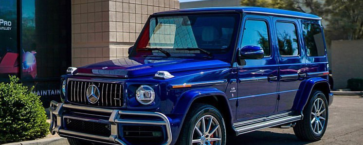 Blue sporty car