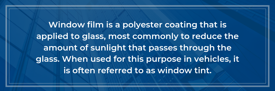 what is window film