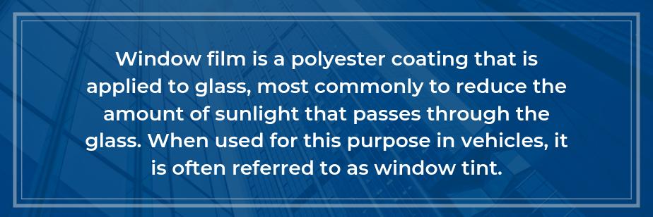 what is window film
